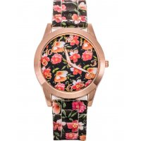 W2945 - Geneva floral silicone casual Watch