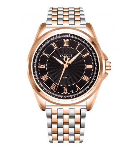 W2979 - Yazole gold steel watch