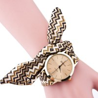 W2993 - Print cloth Geneva watch