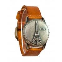 W3001 - Retro Eiffel Tower leather quartz watch