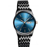 W3004 - Men's simple steel belt black watch
