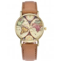 W3005 - Retro World Map Style Watch
