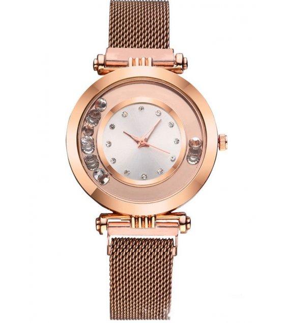 W3057 - Brown Mesh Belt watch