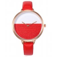 W3059 - Simple Pu Leather Watch