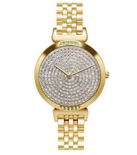 W3076 - Rose Gold Rhinestone Watch