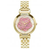 W3077 - Gold Floral Women's Watch