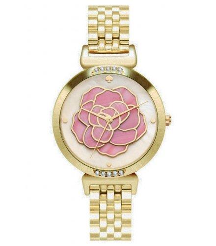 W3077 - Gold Floral Women's Watch