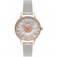 W3082 - Silver Floral Watch