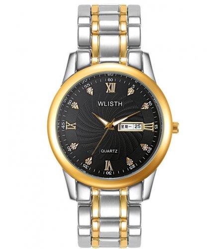 W3087 - Silver Two Toned Men's Fashion Watch