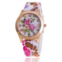 W3092 - Silicone Floral Watch
