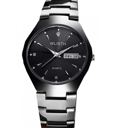 W3100 - Simple Black Men's watch