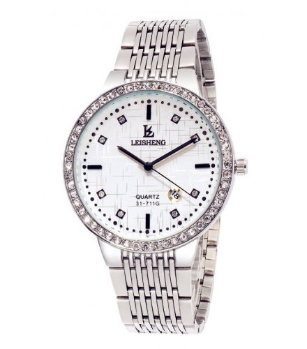 W3101 - Simple White Dial Men's Watch