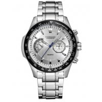 W3107 - Silver strap Men's Watch