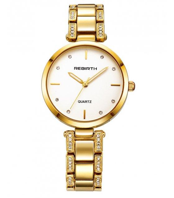 W3141 - Large dial steel belt diamond Watch