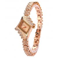 W3157 - Diamond-shaped watch alloy bracelet watch