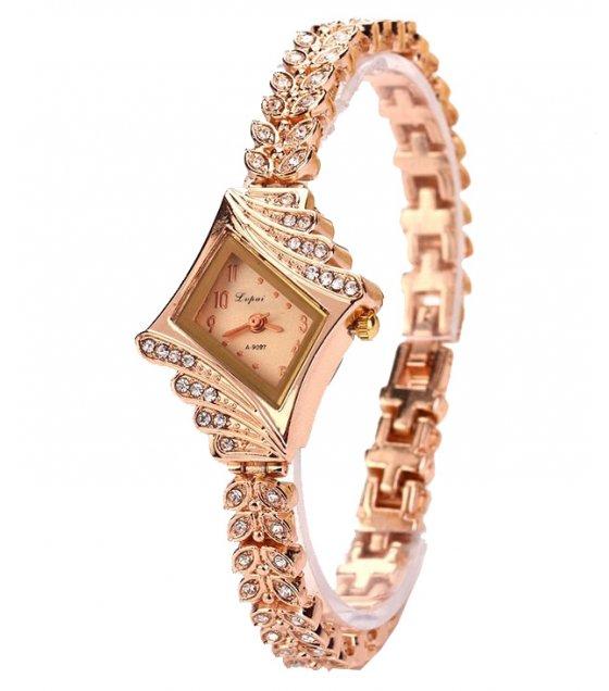 W3157 - Diamond-shaped watch alloy bracelet watch