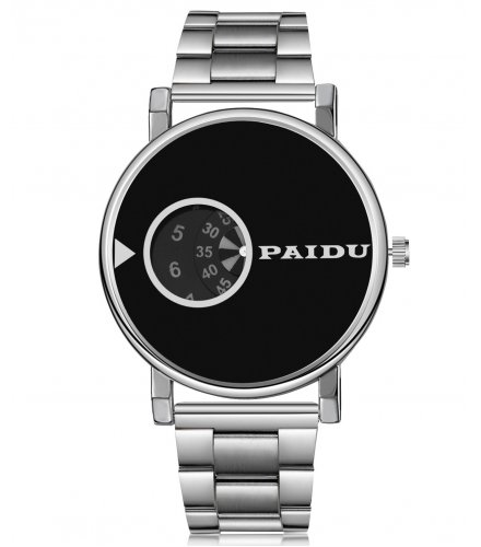 W3166 - PAIDU new fashion men's steel belt watch