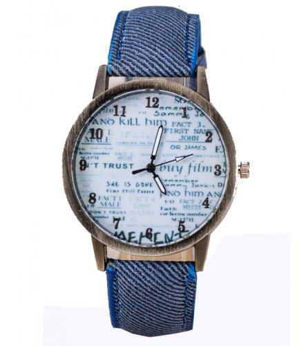 W3181 - English Canvas Newspaper Fashion Casual Women's Quartz Watch