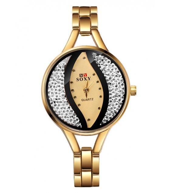 W3204 - Soxy Rhinestone Bracelet Watch