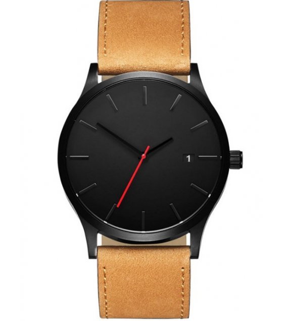 W3218 - Men's Fashion frosted belt calendar quartz watch