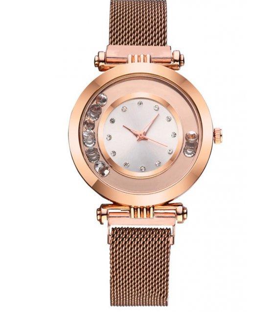 W3219 - Suction magnet Milan mesh belt watch