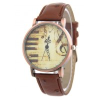 W3221 - Retro Personality Piano Note Women's Watch