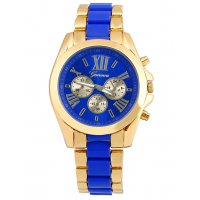 W3229 - Two Color Geneva Roman Watch