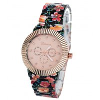 W3250 - Geneva Alloy Floral Watch