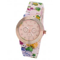 W3305 - Geneva Floral Women's Watch