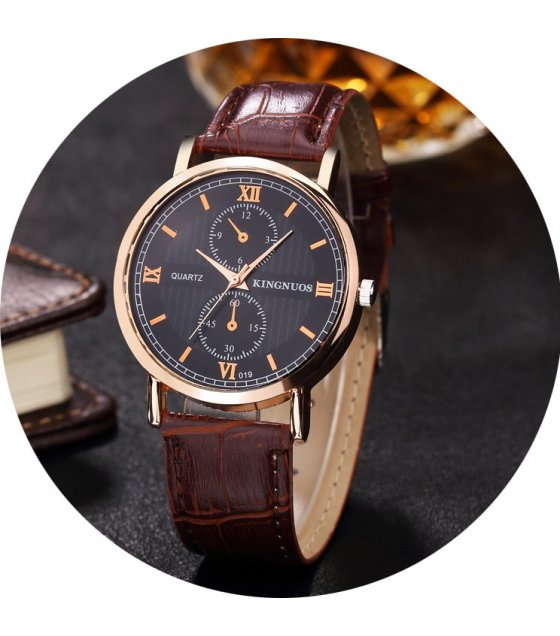W3313 - Roman numeral quartz non-mechanical watch