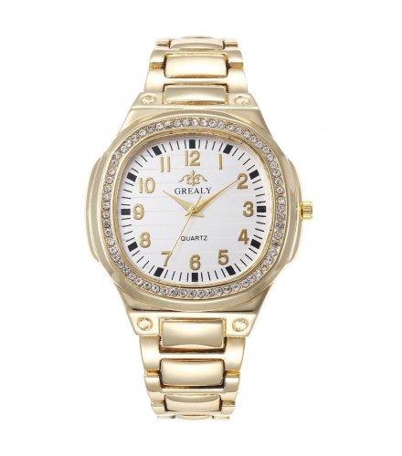 W3325 - Ladies full diamond square shell quartz watch