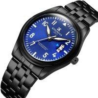 W3386 - KINGNUOS classic fashion men's steel belt Watch