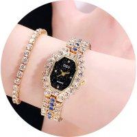 W3416 - Square Diamond Fashion Watch