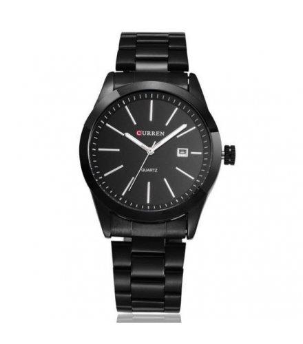 W490 - Black Steel Watch