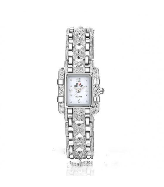 W562 -  Silver Diamond Elegant Watch