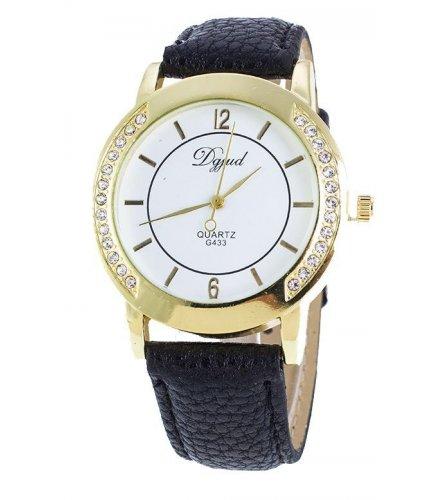 W756 - Black Strap Round Dial Watch