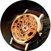 W837 - Vintage hollow gold quartz watch
