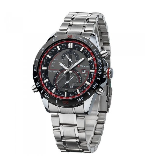W898 - Large dial stainless steel mens watch