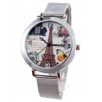 W935 - White Eiffel Tower Watch