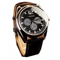 W960 - Black Belt Black Plate Watch