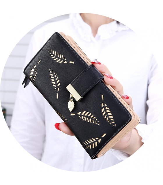 WW060 - Hollow leaf purse Ladies wallet