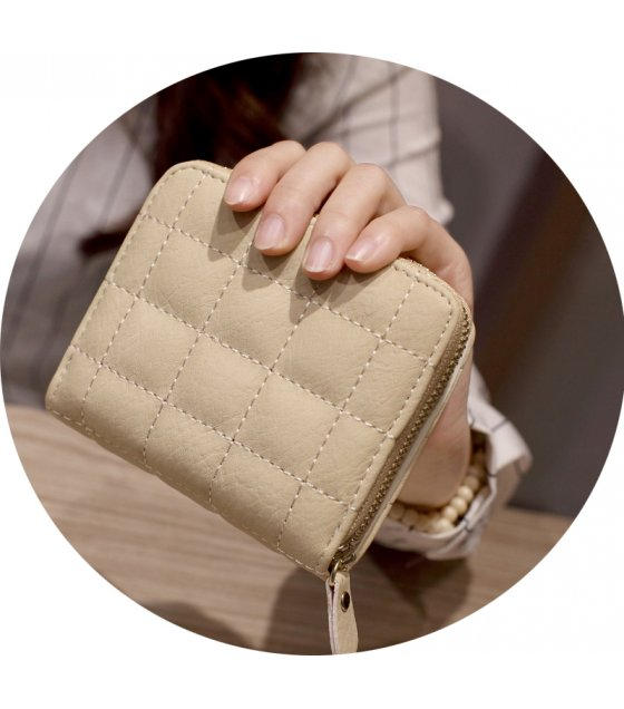 WW062 - Korean short zipper ladies mini wallet