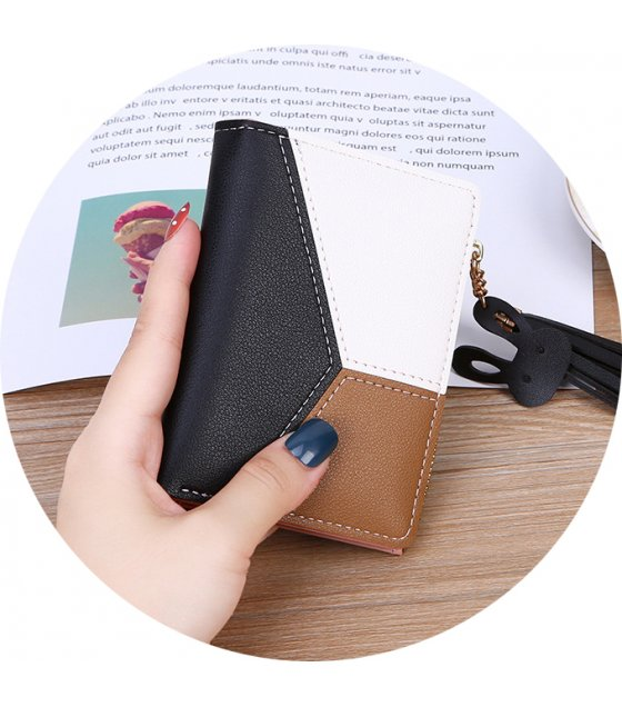 WW063 - Korean Tassel short ladies zipper wallet