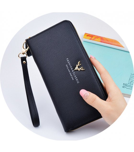 WW064 - Korean Long Zipper Ladies Wallet