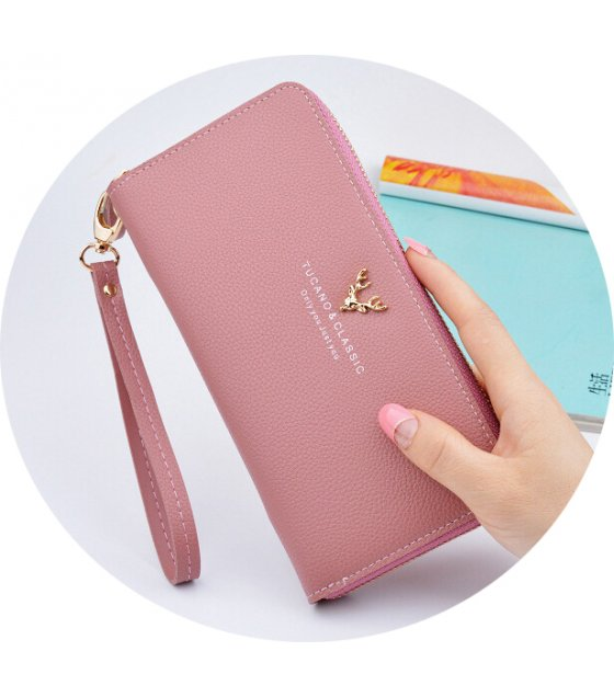 WW066 - Korean Long Zipper Ladies Wallet