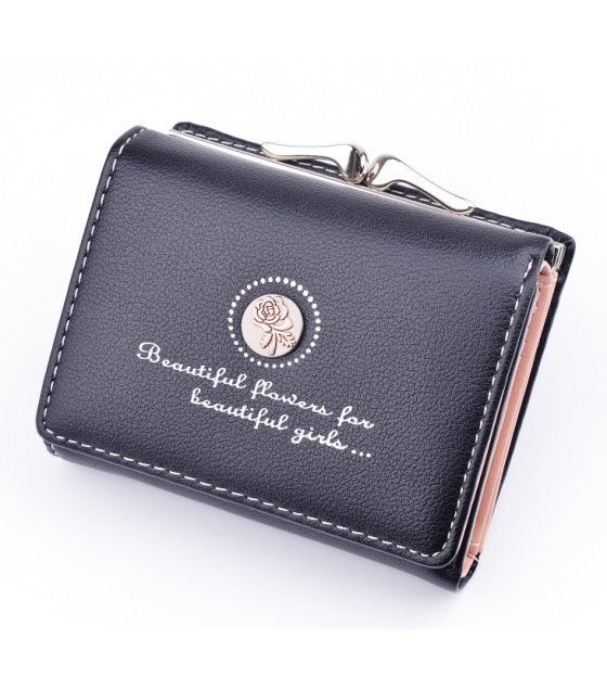 WW069 - Retro Floral Ladies Simple Mini Wallet