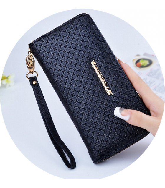 WW070 - Fashion Korean Long Women's Zipper Wallet