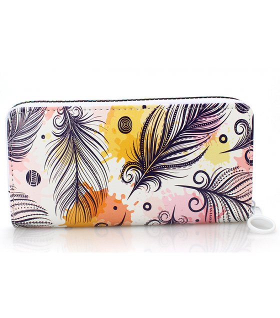 WW074 - Printed texture ladies wallet