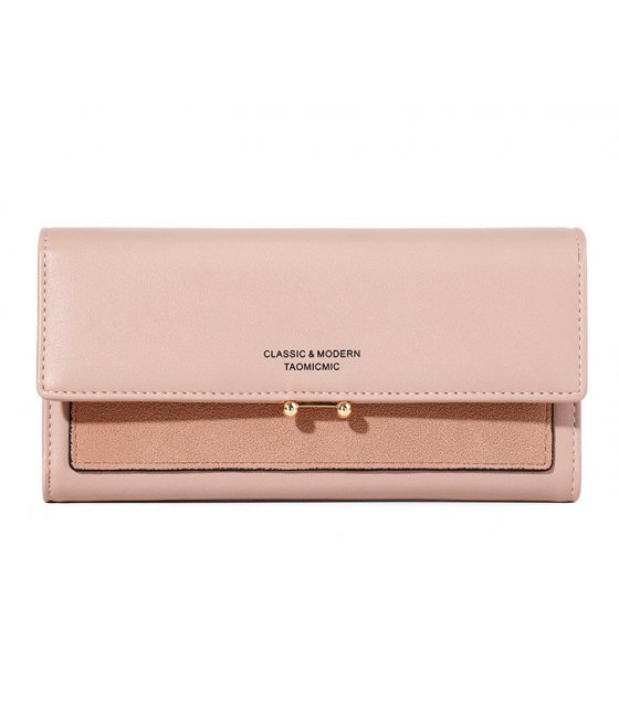 WW076 - Korean long Matte Ladies wallet