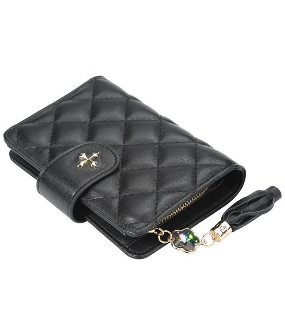 WW087 - Fashion zipper tassel ladies wallet